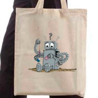 Shopping bag Confused Robot
