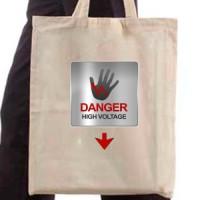 Shopping bag Danger high voltage