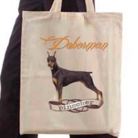 Shopping bag Doberman Pinscher