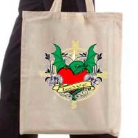 Shopping bag Dragon and heart