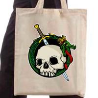 Shopping bag Dragon and skul