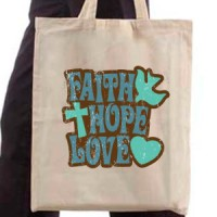Shopping bag Faith Hope Love