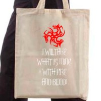 Shopping bag Fire And Blood