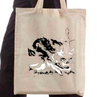 Shopping bag Fire Dragon Tattoo