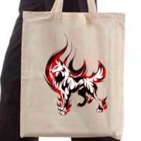 Shopping bag Fire Wolf
