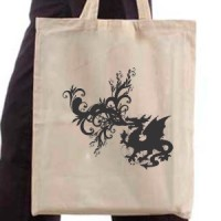 Shopping bag Fire-breathing dragon