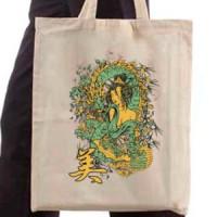 Shopping bag Geisha And Dragon