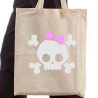 Shopping bag Girl Skull