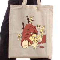 Shopping bag Gorilla In The Bunny Territory