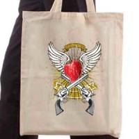 Shopping bag Heart And Guns