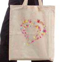 Shopping bag Heart of flowers
