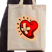 Shopping bag Heart with a bandage