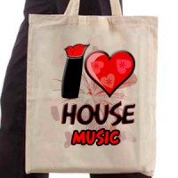 Shopping bag I Love House Music | House | Music