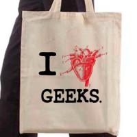 Shopping bag I Love Nerds!