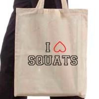 Shopping bag I Love Squats