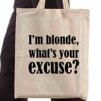 Shopping bag I M Blonde