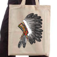 Shopping bag Indian feather headdress