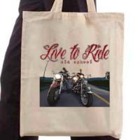 Shopping bag Live To Ride