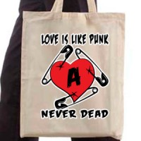 Shopping bag Love is like punk