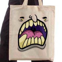 Shopping bag Monster with yellow eyes