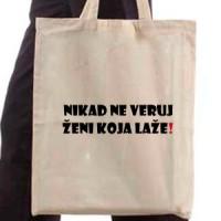 Shopping bag Never Trust A Woman