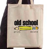 Shopping bag Old School Print