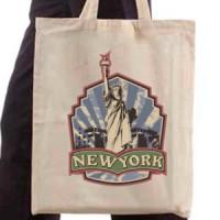 Shopping bag Retro New York