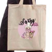 Shopping bag Sassy since birth by Jvncc (Black)