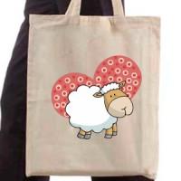 Shopping bag Sheep And Heart