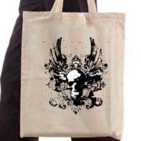 Shopping bag Skull With Wings