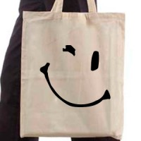 Shopping bag Smiley 05