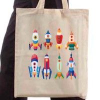 Shopping bag Space Rockets