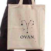 Shopping bag T-shirt Aries zodiac sign
