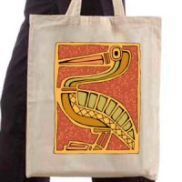 Shopping bag Tribal Bird