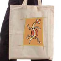 Shopping bag Tribal Lizard