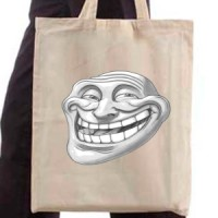 Shopping bag Trollface