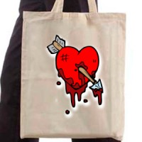 Shopping bag Wounded heart
