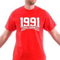 T-shirt 1991 Champions Of The World