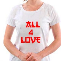 T-shirt All for love.