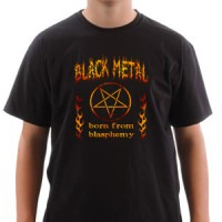 T-shirt Black Metal