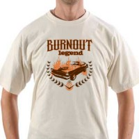T-shirt Burnout Legend