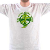 T-shirt Celtic cross with dragon