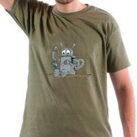 T-shirt Confused Robot