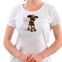 T-shirt Crazy Dog