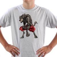 T-shirt Dangerous Werewolf