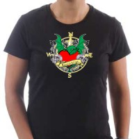 T-shirt Dragon and heart