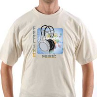 T-shirt Feel the music