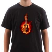 T-shirt Fire Guitar