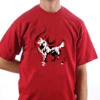 T-shirt Fire Wolf