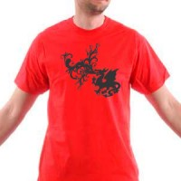 T-shirt Fire-breathing dragon
